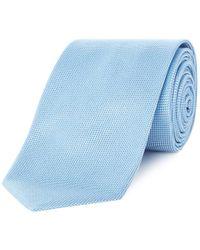 Chester Barrie - Blue Hopsack Silk Tie - Lyst