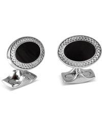 Deakin & Francis - Silver And Black Onyx Oval Cufflinks - Lyst