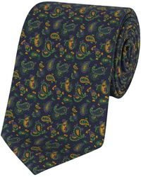 Calabrese 1924 - Blue, Green And Yellow Silk Paisley Printed Tie - Lyst