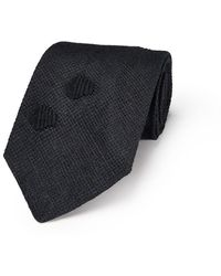 Jupe by Jackie - Black On Black Linen Embroidered Tie - Lyst