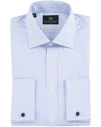 Chester Barrie - White Fine Stripe Sea Island Cotton Shirt Double Cuff Shirt - Lyst
