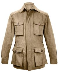 Anderson & Sheppard - Natural Cotton Safari Jacket - Lyst