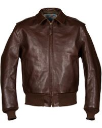 Aero Leather Clothing - Brown Happy Days A2 Leather Jacket - Lyst