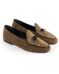 Rubinacci - Coffee Marphy Suede Loafers - Lyst