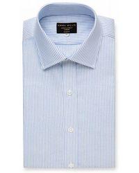 Emma Willis - Sky Bengal Stripe Cotton Shirt - Lyst