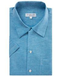 Richard James - Acquamarine Linen Shirt - Lyst