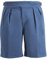 Rubinacci - Light Blue Manny Cotton Shorts - Lyst