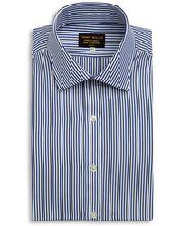 Emma Willis - Navy Bengal Stripe Cotton Shirt - Lyst