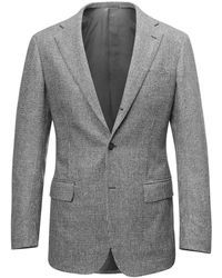 Ring Jacket - Black And White Prince Of Wales Single-breasted Wool Suit - Lyst