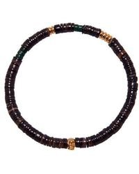 Nialaya - The Heishi Bead Collection - Brown And Gold - Lyst