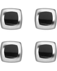 Deakin & Francis - Sterling Silver With Black Onyx Inlay Shirt Studs - Lyst