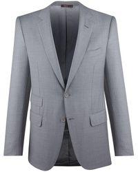 Cifonelli - Light Grey Stripe Single-breasted Three-piece Suit - Lyst