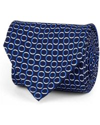 Rubinacci - Dark Blue Circle Silk Tie - Lyst