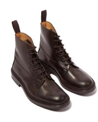 Tricker's - Burford Espresso Burnished Leather Lace-up Boots - Lyst