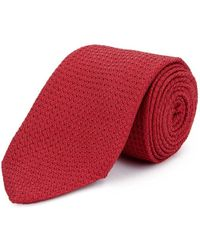New & Lingwood - Red Grenadine Weave Silk Tie - Lyst