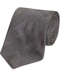 Fumagalli 1891 - Grey Textured Stripe Malibu Silk 5-fold Tie - Lyst