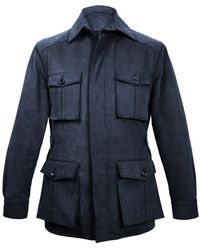 Anderson & Sheppard - Navy Heavy Drill Cotton Travel Jacket - Lyst