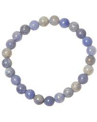 Jan Leslie - Blue Cracked Agate Bead Elasticated Bracelet - Lyst
