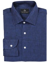 Chester Barrie - Navy Linen Shirt - Lyst