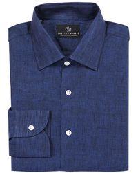 Chester Barrie - Navy Linen Shirt - Lyst