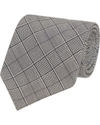 Fumagalli 1891 - Black And White Prince Of Wales Check Malibu Wool 5-fold Tie - Lyst