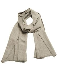 Anderson & Sheppard - Silver Birdseye Weave Cashmere Scarf - Lyst