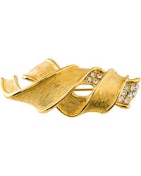 Givenchy - Crystal Brooch Gold - Lyst