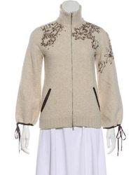 Philosophy di Alberta Ferretti - Virgin Wool Zip-up Sweatshirt - Lyst