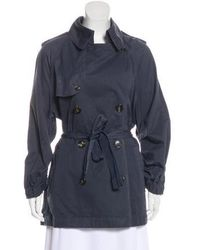 Lanvin - Long Sleeve Trench Coat Navy - Lyst