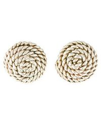 Tiffany & Co. - Coiled Rope Silver Earrings - Lyst