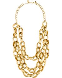 Kate Spade - Multistrand Necklace Gold - Lyst