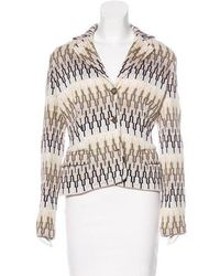 M Missoni - Patterned Knit Coat Multicolor - Lyst