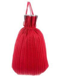 Pleats Please Issey Miyake - Woven Plissé Shoulder Bag Red - Lyst