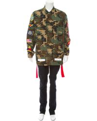 Off-White c/o Virgil Abloh - 2018 Camouflage Patch Cargo Jacket - Lyst