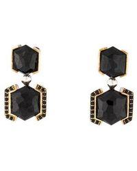 Kara Ross - Onyx & Sapphire Drop Earrings Silver - Lyst