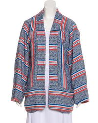 Smythe - Striped Open Front Cardigan - Lyst