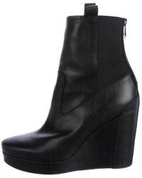 Vanessa Bruno - Leather Wedge Booties - Lyst