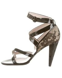 Viktor & Rolf - Lace-accented Crossover Sandals W/ Tags - Lyst