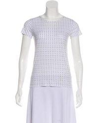 Rag & Bone - Printed Short Sleeve Top - Lyst