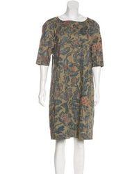 eea8bf17 Dries Van Noten - Floral Print Knee-length Dress Multicolor - Lyst