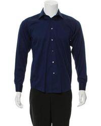 Michael Kors - Linen Button-up Shirt Navy - Lyst