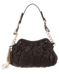Blumarine - Textured Leather Clutch Black - Lyst