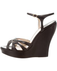 Paul Andrew - Leather Wedge Sandals - Lyst