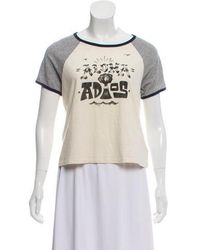 Mother - Short Sleeve Graphic Top W/ Tags Grey - Lyst
