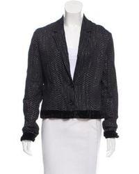 CoSTUME NATIONAL - Lightweight Metallic Thread Jacket Black - Lyst