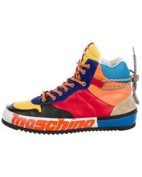 Moschino - Colorblock High-top Sneakers W/ Tags Multicolor - Lyst