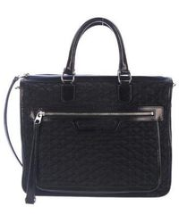MZ Wallace - Quilted Nylon Satchel Navy - Lyst
