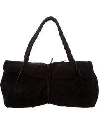 Miu Miu - Miu Suede Handle Bag Black - Lyst