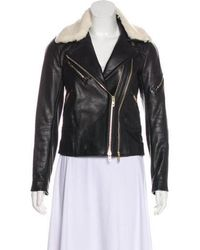 Rag & Bone - Shearling-trimmed Leather Jacket - Lyst