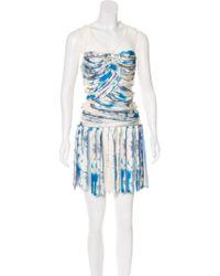 Louis Vuitton - Printed Mini Dress - Lyst